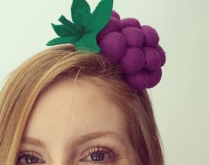 קשת לשיער ענבים בעבודת יד