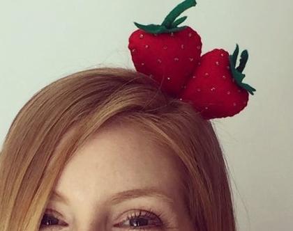 קשת לשיער תותים בעבודת יד