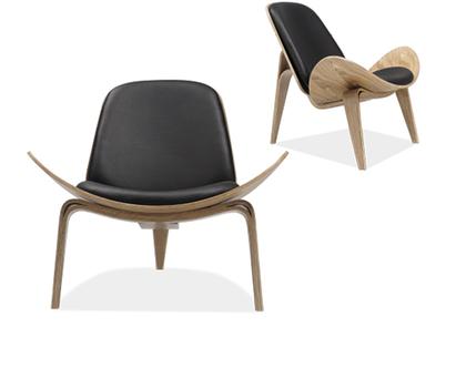 """כסא מרופד עץ מלא """"נורמן"""""""