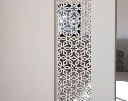 משרביה לקיר גבס | מחיצה מעוצבת | משרביה מעץ | קיר משרביה דגם LIBERO