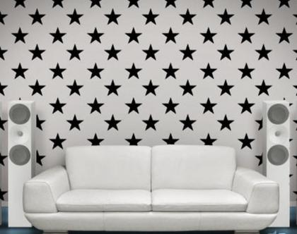 מדבקות קיר כוכבים שחורים גדולים משלוח חינם