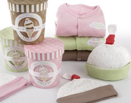 בגדי תינוקות- מארז גלידה