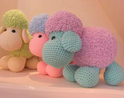 בובות סרוגות כבשים כבשה