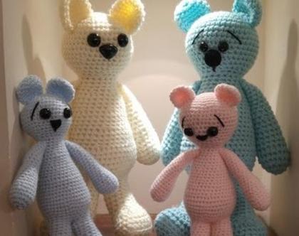 בובות סרוגות- דובי עם אופי