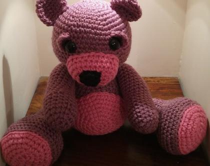 בובות סרוגות- דובי סגול