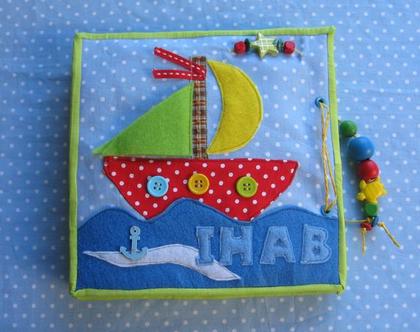 ספר פעילות לגילאי 1.2-5 / ספר התפתחותי לילד / משחקים לגיל 1.2 עד 5 /סגנון סירה