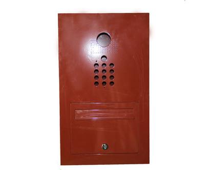 תיבת דואר לבית פרטי מאלומיניום פתח קידמי משולב עבודת יד