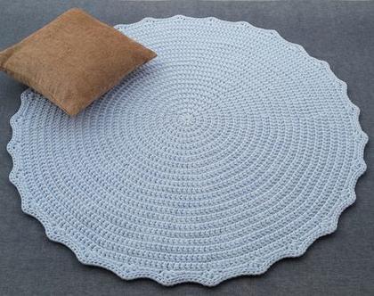 שטיח טריקו   שטיח סרוג   שטיח עבודת יד   שטיח עגול   שטיח תכלת   שטיחים סרוגים