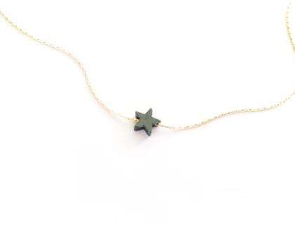 שרשרת כוכב שחור/שרשרת עדינה מגולדפילד/שרשרת מינימליסטית/שרשרת קצרה