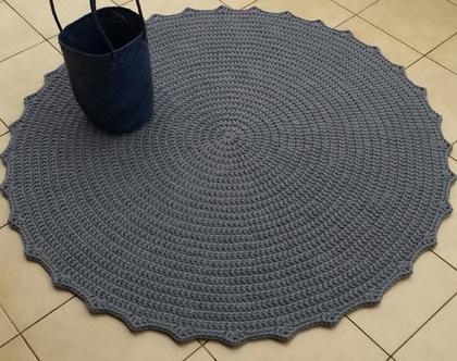 שטיח טריקו   שטיח סרוג   שטיח עבודת יד   שטיח עגול   שטיח אפור   שטיחים סרוגים