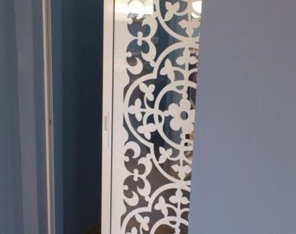 דלתות הזזה דקובריק מתכת דגם תלתן
