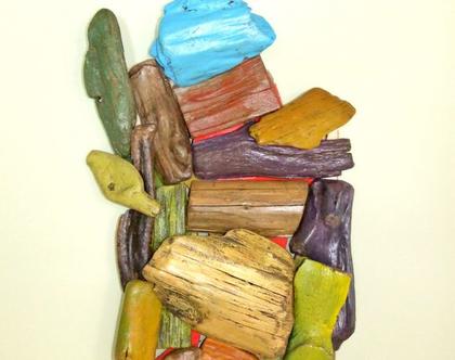 פסל קיר | פסל עץ | אמנות בעץ | פסל מופשט | פסל צבעוני | עץ סחף | פיסול בעץ סחף | תלת מימד | עיצוב מיוחד | עיצוב צבעוני | עיצוב מסעדות |