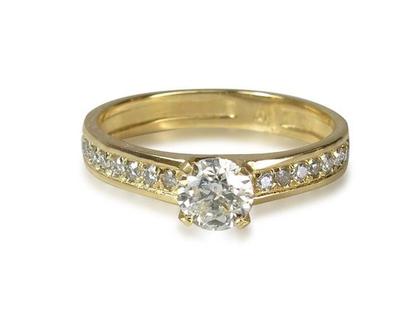טבעת יהלומים 1/2 קראט בזהב 14K