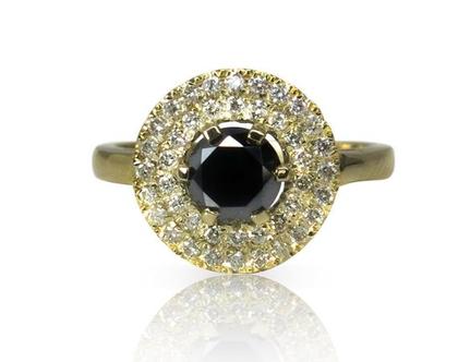 טבעת רויאל פרינסס מזהב 14K משובצת ספיר ואבני זרקון