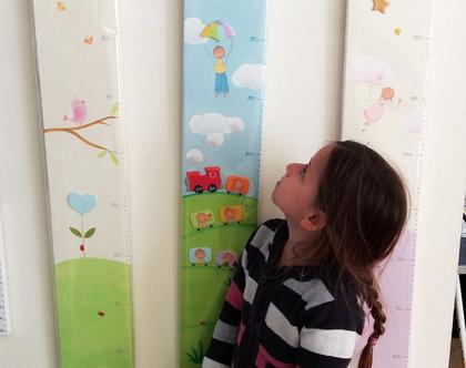 מד גובה לחדר הילדים. מד גובה מעוצב. מתנה ללידה.
