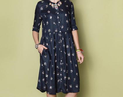 שמלת ARI מודפס
