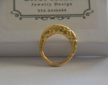 טבעת זהב עבה, טבעת אובלית, סט טבעות, טבעת גולמית, טבעת מעוצבת, טבעת ליום יום, טבעת עם נוכחות, טבעת גדולה, מתנה לחברה, מתנה לאימא, אפרת מקוב