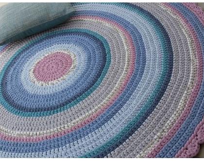 שטיח טריקו   שטיח סרוג   שטיח עבודת יד   שטיח עגול