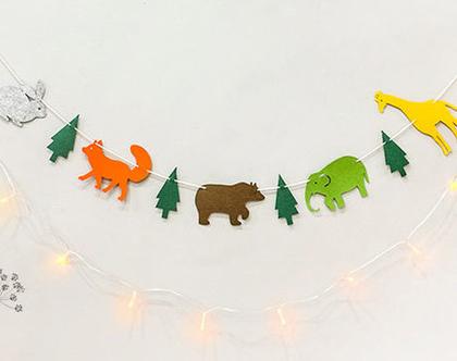 שרשרת דגלים - חיות יער