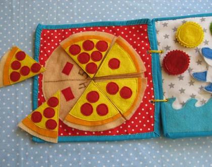 משחק מתוך ספר פעילות לגילאי 2-5 / משחק פיצה / הכרת המספרים / משחק לגילאי 2-5