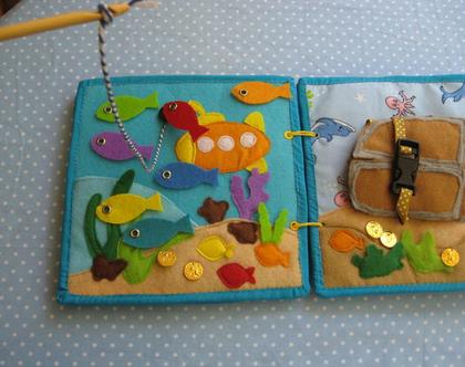 משחק מתוך ספר פעילות לגילאי 1.5-5 / משחק דג דגים / משחק הכרת צבעים / ספר פעילות לגיל הרך / גילאי 1.2-5