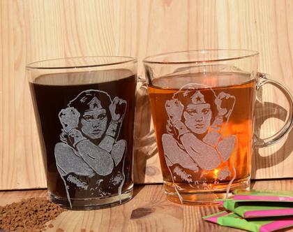 סט כוסות וונדר וומן, כוסות שתיה חמה, כוסות מעוצבות, כוסות מיוחדות, כוסות לשתייה חמה, | shiranlavishohat.com | 052-8339640