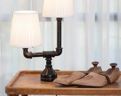 מנורת אוירה כפולה מצינורות