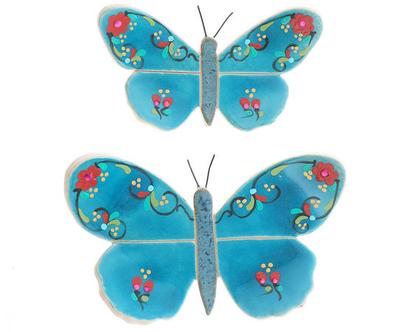 זוג פרפרים טורקיז - נורית טבע
