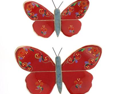 זוג פרפרים אדום - נורית טבע