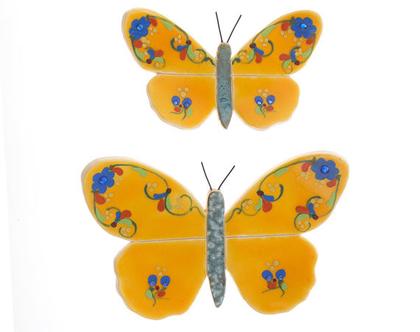 זוג פרפרים צהוב - נורית טבע