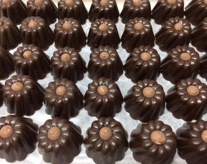 פרלין מריר ללא סוכר בגנאש שוקולד מריר אספרסו