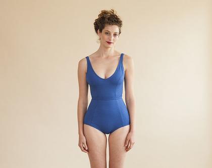 בגד ים שלם כחול רקדנית