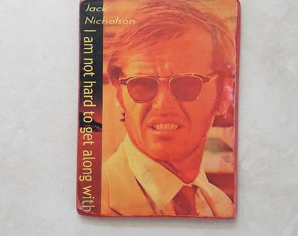ג'ק ניקולסון | תמונה צבעונית | הדפס על לוח ממוחזר | מתנות למשרד |
