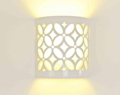 גוף תאורה מקרמיקה- רותם | תאורת קיר | תאורה לבית | תאורה מעוצבת | אהיל מקרמיקה | מנורת קיר | מנורה מעוצבת