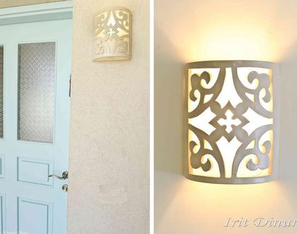 גוף תאורה מקרמיקה- יערה | תאורת קיר | תאורה לבית | תאורה מעוצבת | אהיל מקרמיקה | מנורה מקרמיקה | מנורה מעוצבת | עיצוב הבית