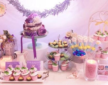 שולחן בר מתוק לבת מצווה, ליום הולדת, למסיבת רווקות, לאירועים,(שולחן יוליה)