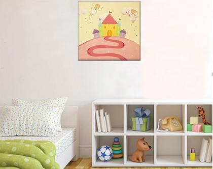 תמונה מעוצבת לחדר תינוקות - מתנה ליולדת - מתנה לתינוקת