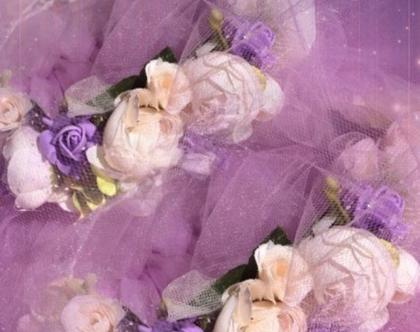 009, זר יום הולדת, זר יום הולדת לילדה, זר פרחים לראש לשושבינה, זר עדין ליום הולדת, זר מקסים לילדות, זר יום הולדת מפרחי משי איכותיים
