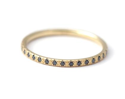 טבעת יהלומים שחורים, טבעת שורת יהלומים, טבעת אירוסין יהלומים שחורים, טבעת שורת יהלומים שחורים, טבעת שורת יהלומים מלאה, ארטמר
