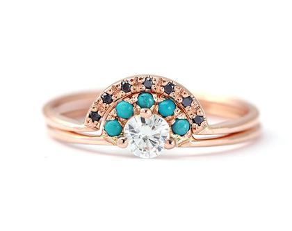 טבעת אירוסין בזהב אדום, טבעת אירוסין יהלום וטורקיז, טבעת יהלום 0.2 קראט, סט טבעות אירוסין, טבעת יהלום שחור, טבעת אירוסין טורקיז