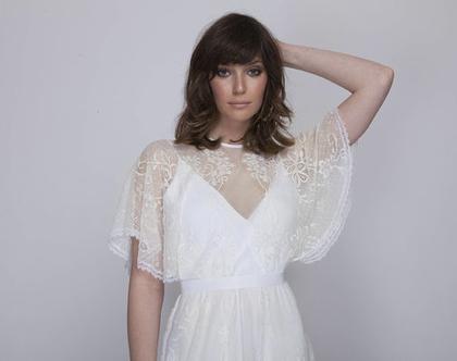 שמלת כלה תחרה רומנטית