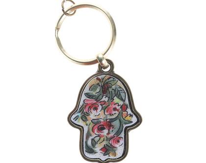 מחזיק מפתחות פרחים - מיכל מרום