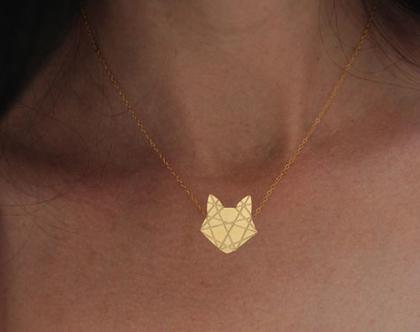 שרשרת חתול, שרשרת זהב, חתול זהב, תליון חתול, שרשרת חיות, שרשרת מעוצבת, שרשרת זהב, חתול חמוד, שרשרת מיוחדת, קיפולי נייר, שרשרת גולדפילד