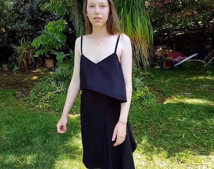 שמלת גופיה שחורה, שמלת מטפחת שחורה, שמלה שחורה לקיץ