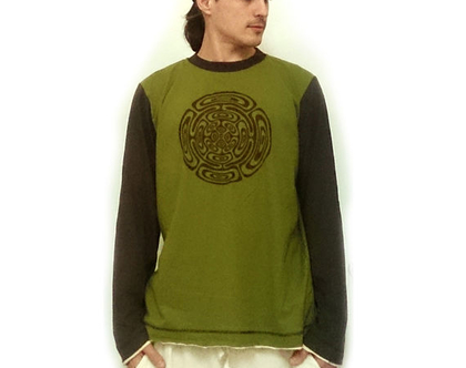 חולצת טישרט לגברים עם שרוול ארוך