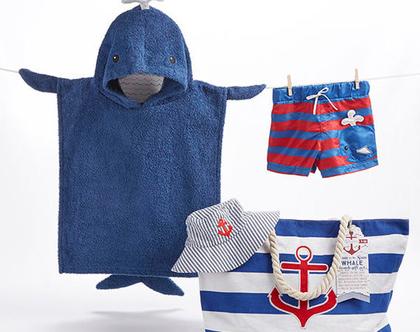 בגד ים לתינוק -סט מגבת כובע ותיק משלוח חינם