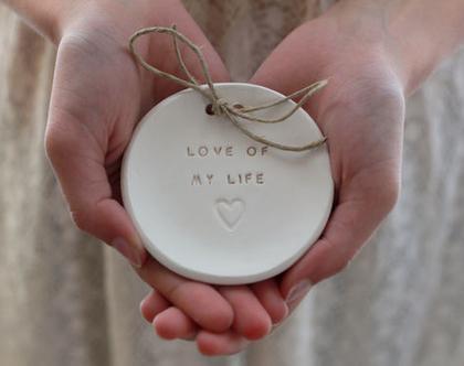 צלוחית לטבעות נישואין   צלוחית לטבעות חתונה Love of my life   מתנה לכלה   מתנה לחתונה   מתנה ליום נישואין   מתנה לאירוסין   כרית לטבעות