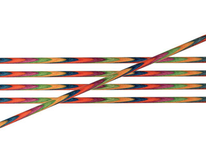 """מידה 3.75 מ""""מ, מסרגות גרביים מעץ סימפוני Knitpro Symfonie Wood, אורך 20 ס""""מ."""