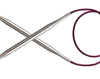 """4.5 מ""""מ, 80 ס""""מ אורך - מסרגות עגולות KnitPro Nova Metal"""