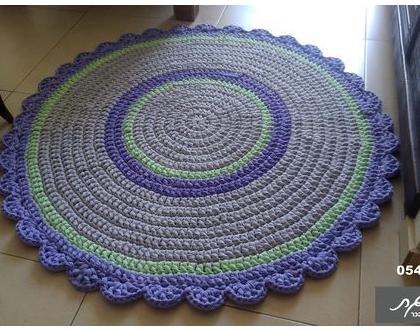 שטיח סרוג בהזמנה/שטיח /שטיחים/שטיח עגול/שטיח לחדר ילדים/שטיחים סרוגים